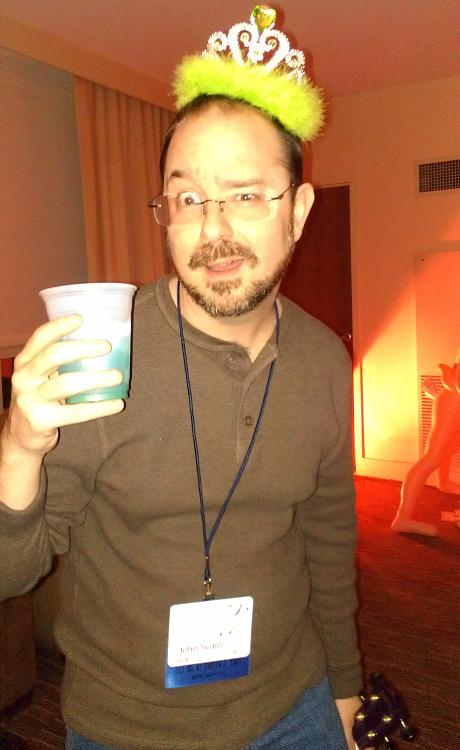 John Scalzi enjoys Capricon 32
