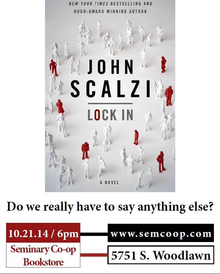 John Scalzi at Seminary Co-op Bookstore