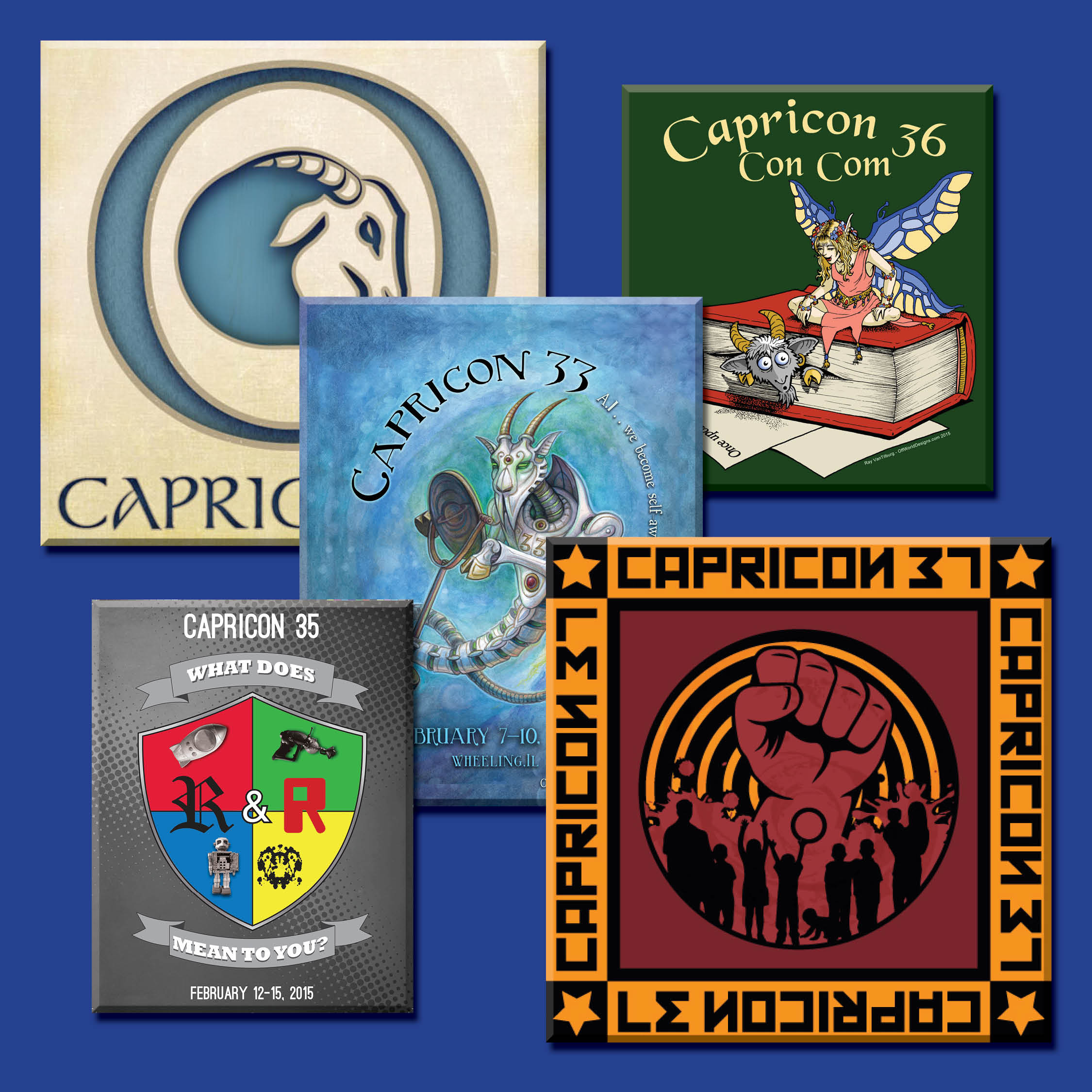 Collage of Capricon images