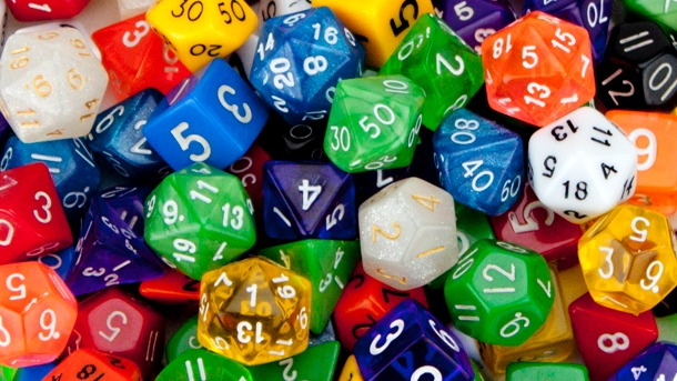 pile of dice
