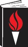 Black book with a red torch - Freedom to Read Foundation logo